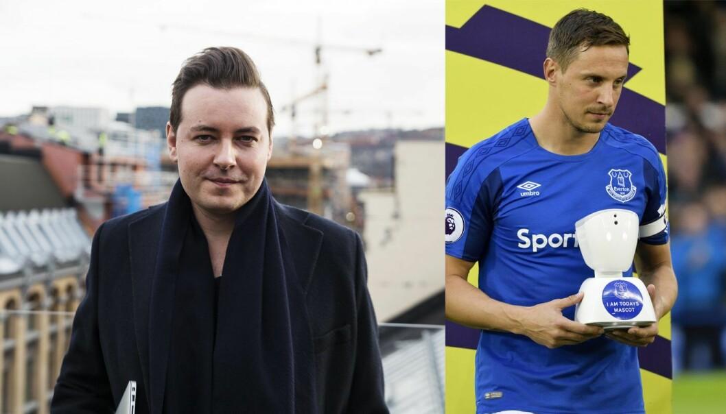 Benjamin Webb i Deliberate PR gjorde AV1 til Premier Leagues første virtuelle maskott. Foto: Per-Ivar Nikolaisen / Everton