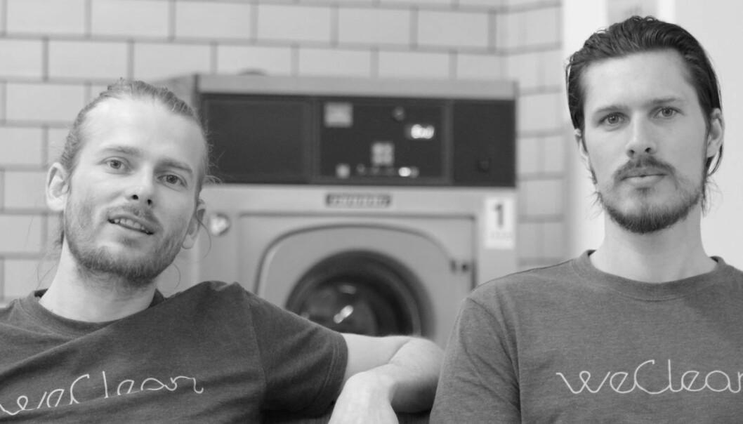 F.V: WeClean-gründerne Kim Haagensen og Emil Sebastian Pete (Foto: Johannes Jakobsen).