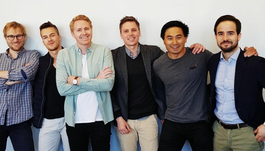 Thomas Sveum (nummer 2 fra venstre) teamer opp og flytter inn med First Engineers.