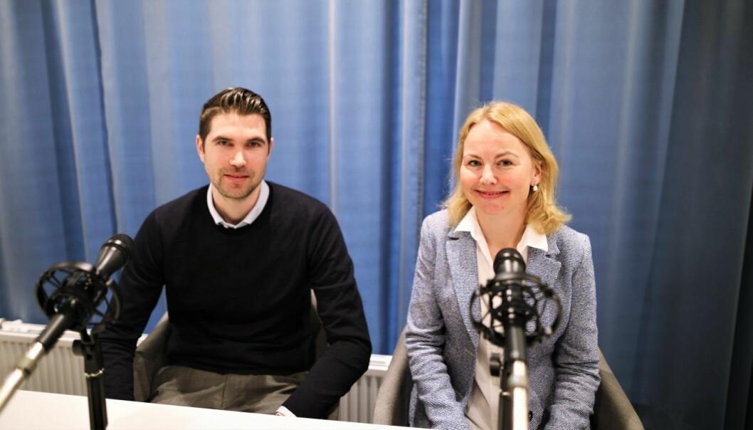 Håvard  Andersen, direktør for strategi og forretningsutvikling i Møller Mobility Group og Synne Homble, mobilitetsdirektør i NSB. Foto: Lucas Weldeghebriel