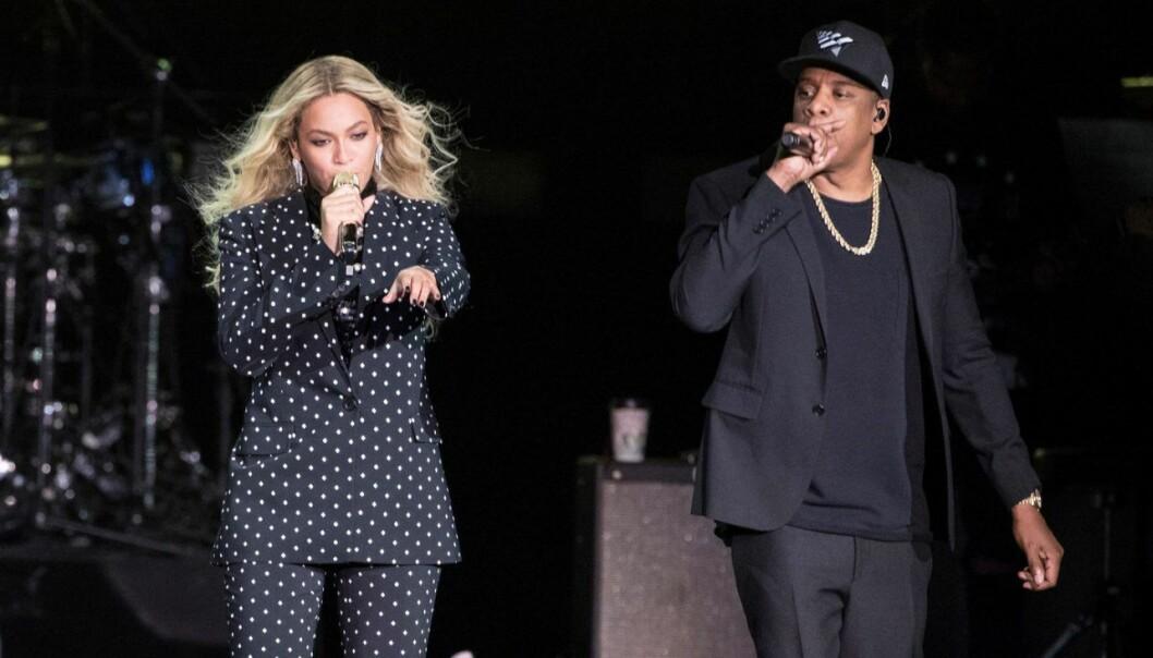 Beyonce og Jay Z opptrådte i forbindelse med Hillary Cllintons valgkampanje. Foto: AP Photo/Matt Rourke