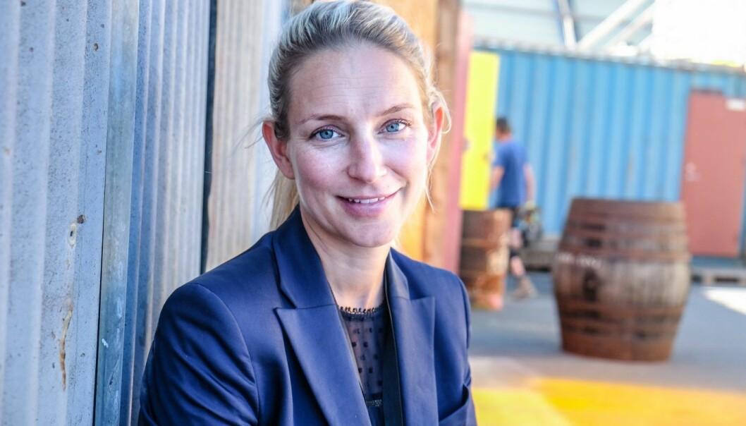 Anna Nordell, med-gründer i det svenske AI-selskapet Sana Labs. Her på Katapult Future Fest 2018. Foto: Vilde Mebust Erichsen