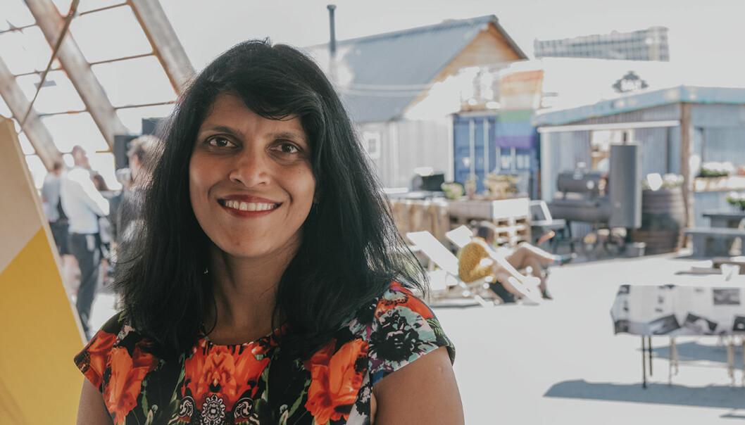 """Beena Ammanath, gründer av og daglig leder for Humans for AI Inc., sier """"den livslange læringen"""" må involvere oss alle, ikke bare barna. Foto: Benedicte Tandsæther-Andersen"""