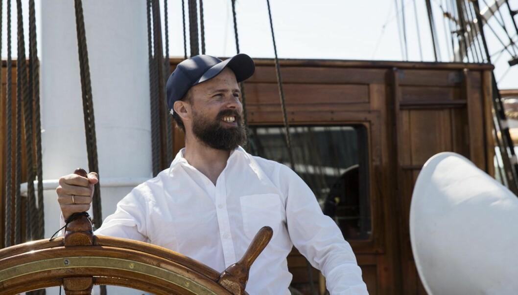 Johan Brand i EntrepreneurShipOne på Christian Radich. Foto: Per-Ivar Nikolaisen