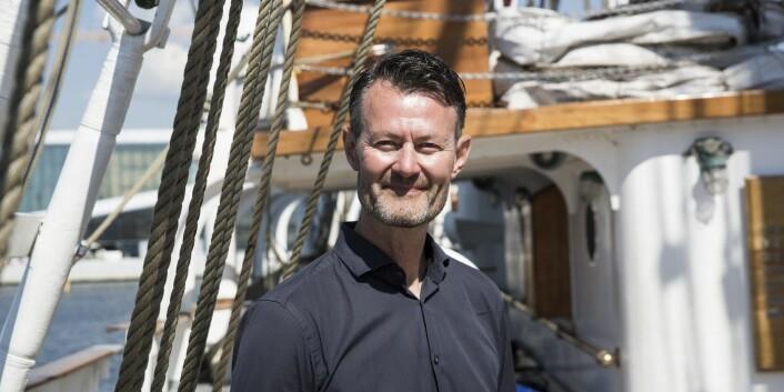 Tommy Andersen i ByFounders har planer om å dra på tokt når Christian Radich blir tech-båt. Foto: Per-Ivar Nikolaisen