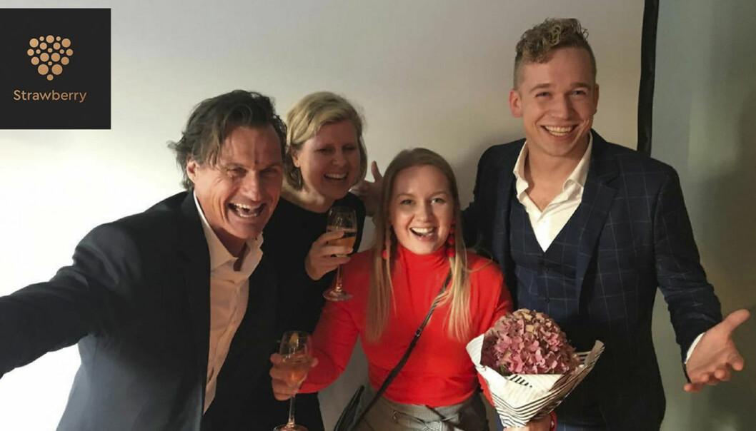 Fra venstre mot høyre: Petter Stordalen (i Strawberry), Gry Løkke, Janne Log og Lars-Kristian Oppstad. Foto: Blue Lice.