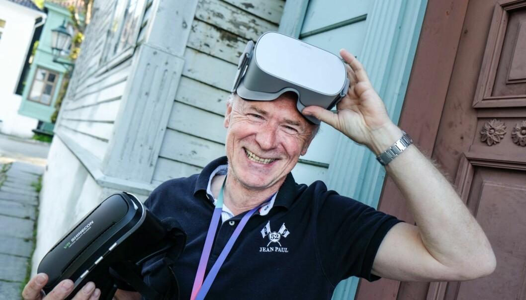 Per Kristian Orset samarbeider med flere sykehjem i Bergen om en VR-løsning for pasienter med demens. Foto: Vilde Mebust Erichsen