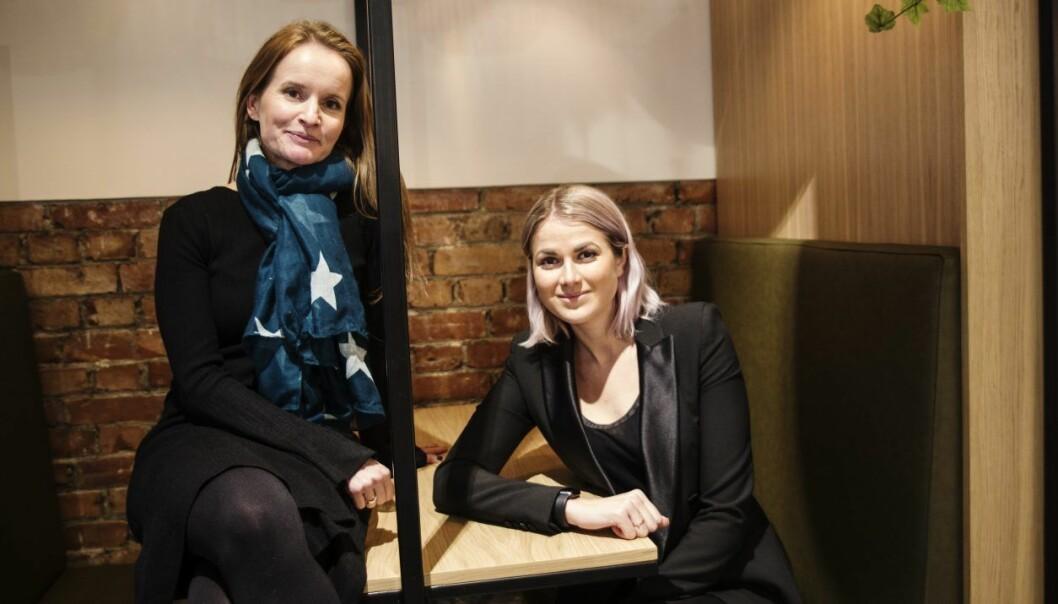 Gründer Marianne Bratt Ricketts og CFO Catharina Brandth Husjord i Vibbio. Foto: Per-Ivar Nikolaisen