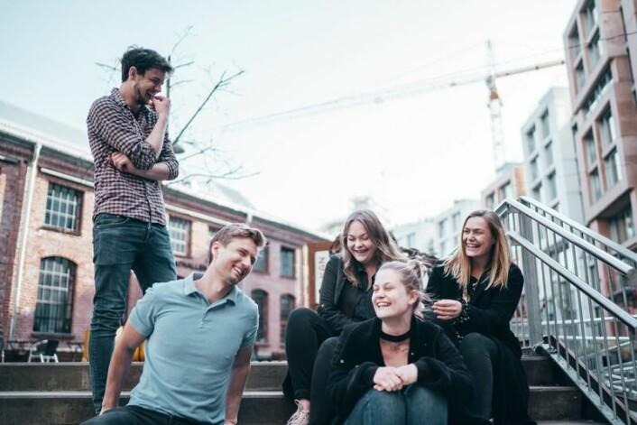 Deler av teamet i Vibbio. Foto: Per-Ivar Nikolaisen
