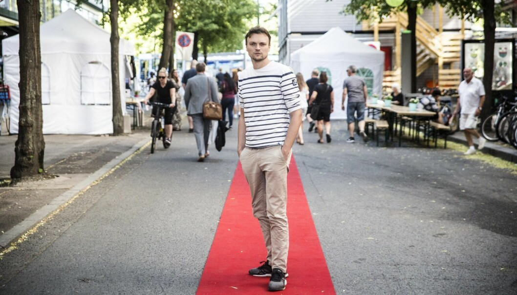 Simon Souyris Strumse i Filmgrail. Foto: Per-Ivar Nikolaisen