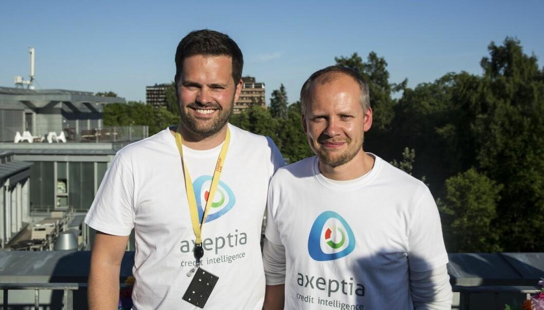 Stian Davidsen og Per Nestor Warp i Axeptia. Foto: Per-Ivar Nikolaisen