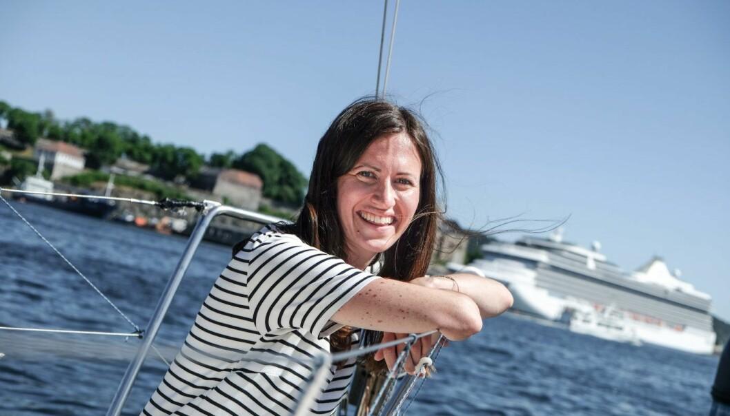 Marie Mostad, medgründer i inzpire.me ombord i EntrepreneurShip. Foto: Vilde Mebust Erichsen