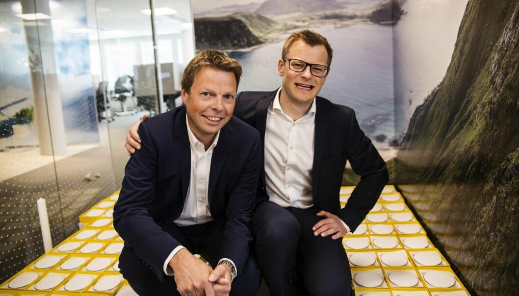 Øyvind Birkenes og Erlend Bolle i Airthings. Foto: Per-Ivar Nikolaisen