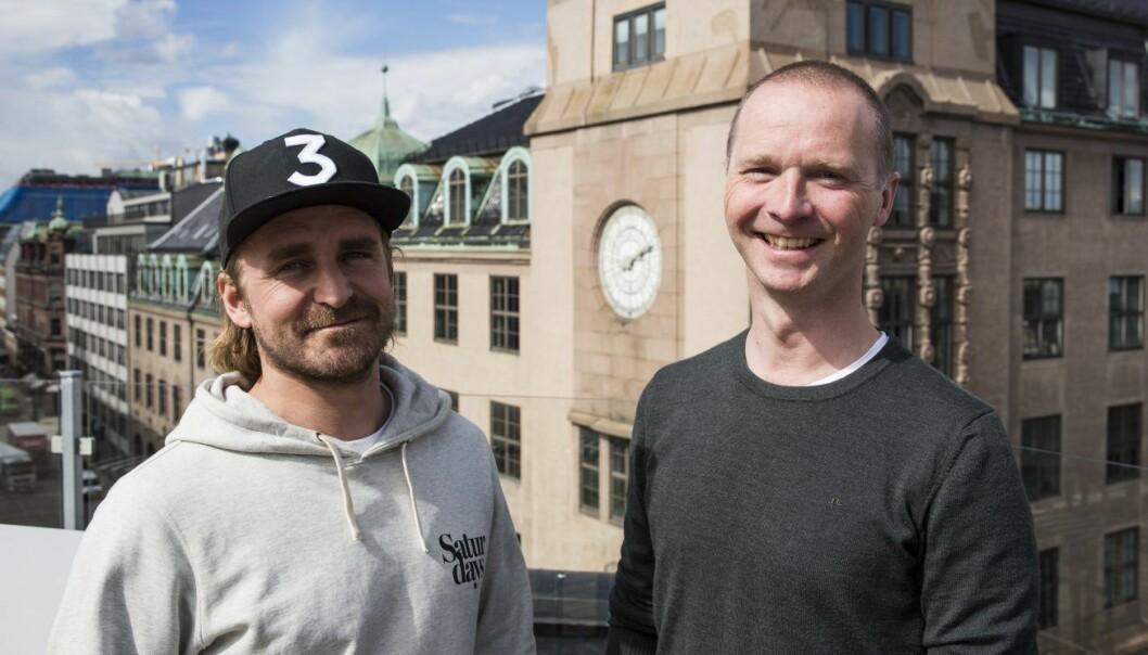 Markedssjef Alf Martin Kollen Evensen og daglig leder Ola Akselberg i Sponsor.me. Foto: Per-Ivar Nikolaisen