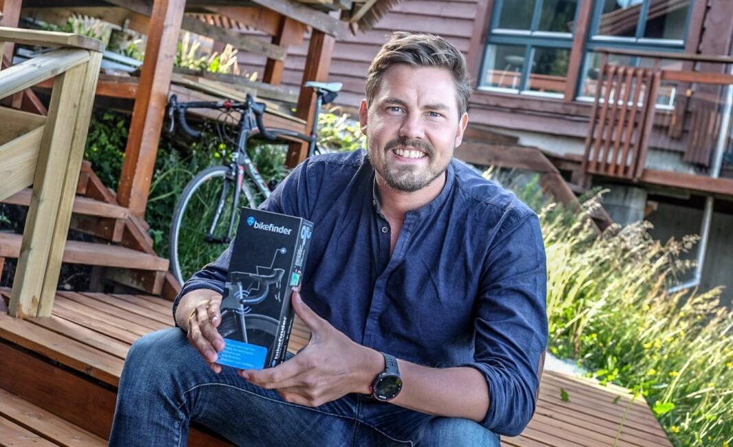 Ole Martin Ølmheim, gründer av BikeFinder. Her under Startup Extreme på Voss. Foto: Vilde Mebust Erichsen