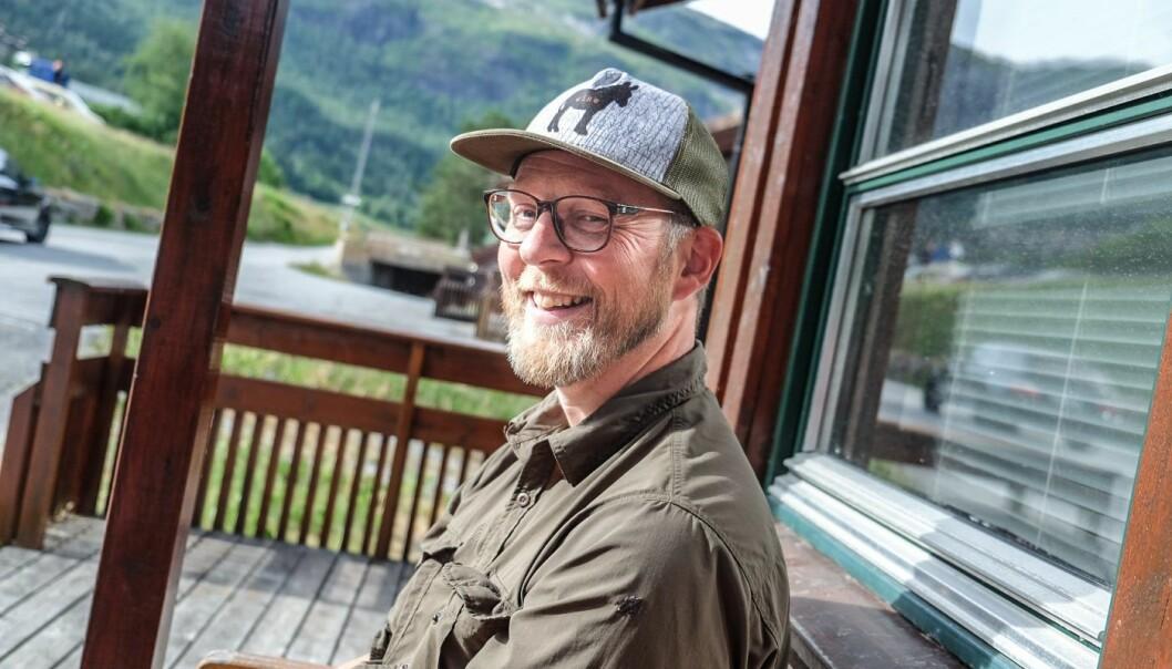 Erik Harstad, CEO i NoFence. Her under Startup Extreme på Voss. Foto: Vilde Mebust Erichsen