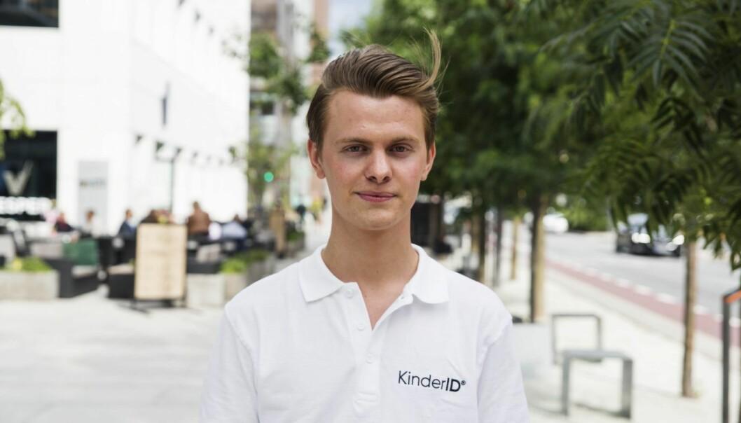 Simen Vatne fra AdSocial er i gang med nytt prosjekt, med KinderID. Foto: Per-Ivar Nikolaisen