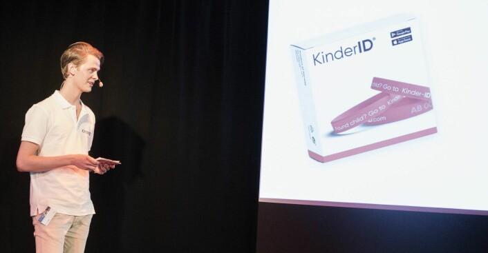 Simen Vatne lanserte KinderID hos DNB. Foto: Per-Ivar Nikolaisen