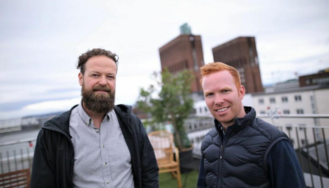 Ketil Jensen  og Alex York står bak konsulent-plattformen Brainbase. Foto: Lucas Weldeghebriel