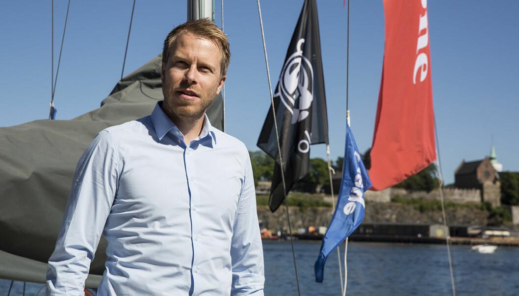 Patrik Olstad Berglund i Xeneta på besøk i Shifters sommerbåt, EntrepreneurShipOne. Foto: Per-Ivar Nikolaisen