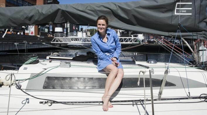 Lederen for Norsk Venturekapitalforening ombord på EntrepreneurShipOne, for anledningen Shifters Sommerbåt. Foto: Per-Ivar Nikolaisen