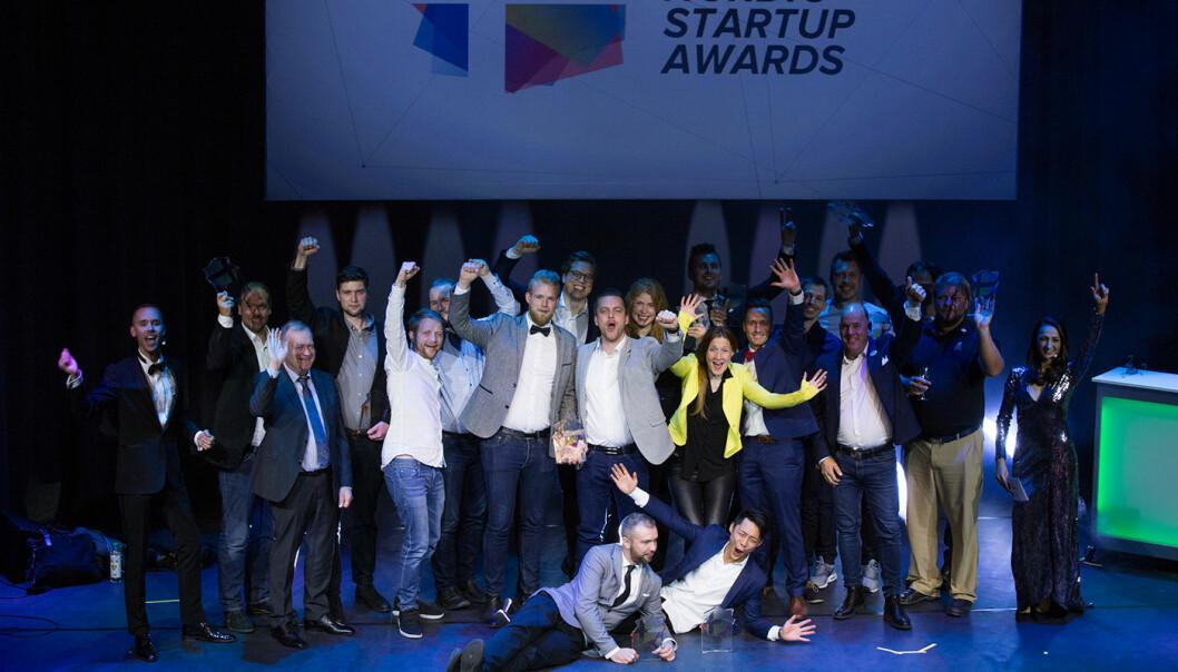 Alle vinnerne i Nordic Startup Awards i fjor. Foto: Nordic Startup Awards