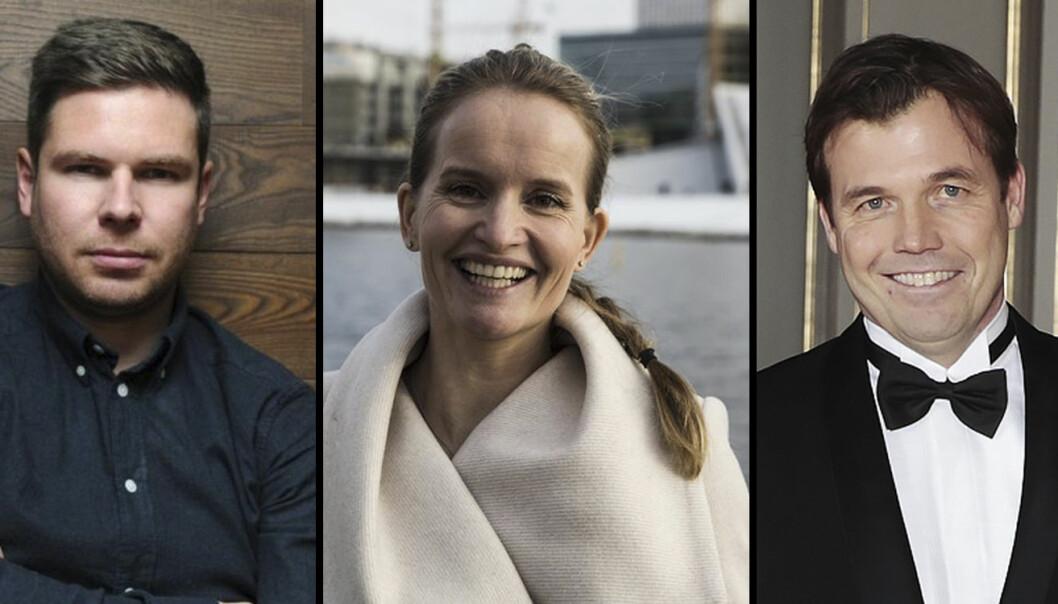 Kjartan Slette (Unacast), Marianne Bratt Ricketts (Vibbio) og Pål Næss (Innovasjon Norge).
