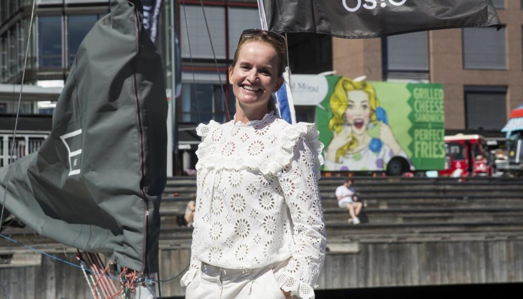 Marianne Bratt Ricketts ombord på Shifters sommerbåt, EntrepreneurShipOne. Foto: Per-Ivar Nikolaisen