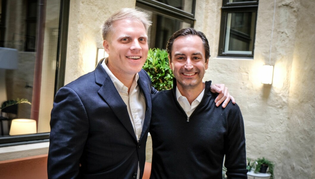 Antler-gründer Magnus Grimeland og Bjarne Abrahamsen, startup-generatorens Europa-sjef - nå på jakt etter nye gründertalenter. Foto: Vilde Mebust Erichsen