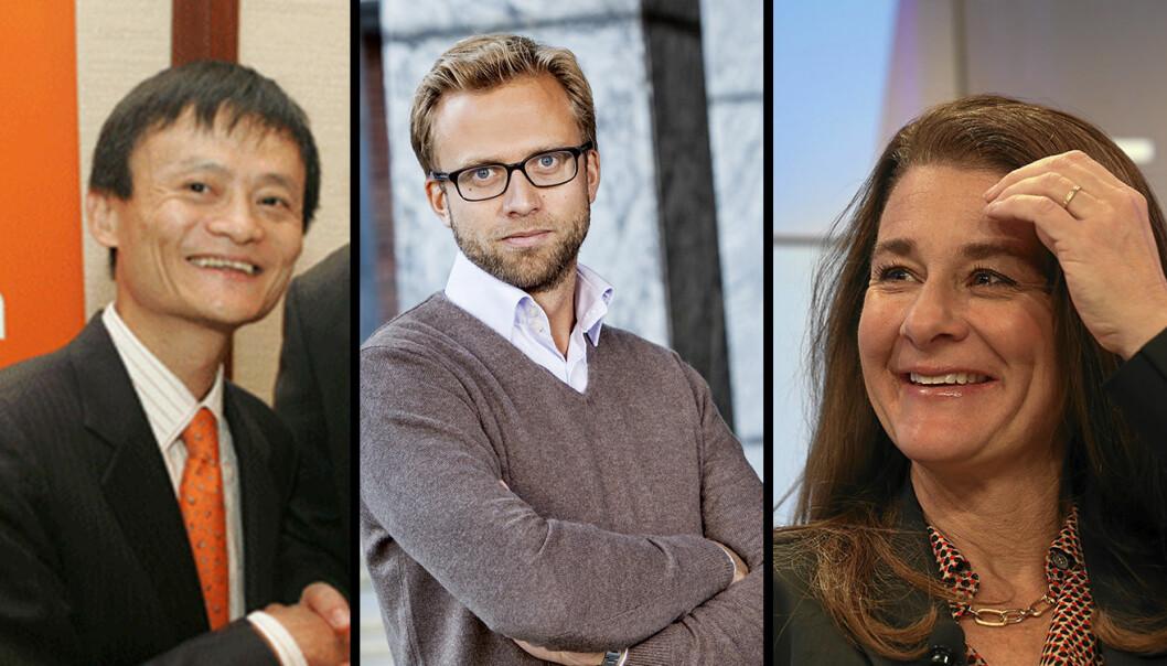 Tre av medlemmene i FNs nye panel, som skal belyse aspekter ved digitalisering: Jack Ma, Nikolai Astrup, Melinda Gates. Foto: Philip McMaster, nyebilder.no, Monika Flueckiger / Flickr.com