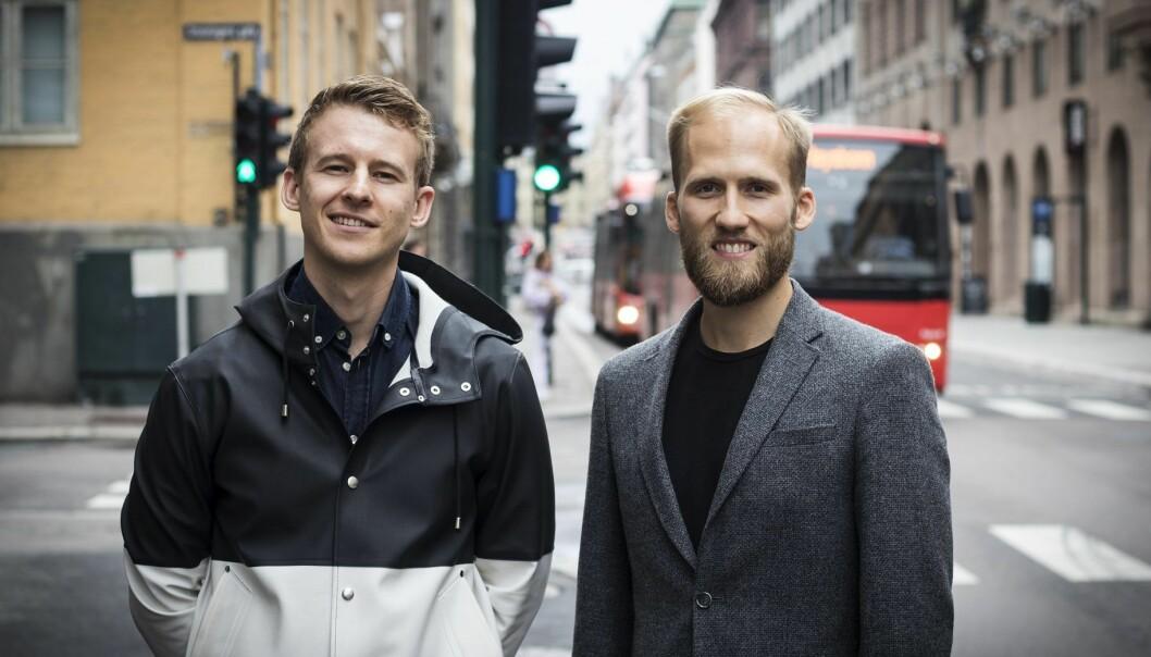Andreas Jørgensen har solgt Mattilbud til Christian Birch. Foto: Per-Ivar Nikolaisen