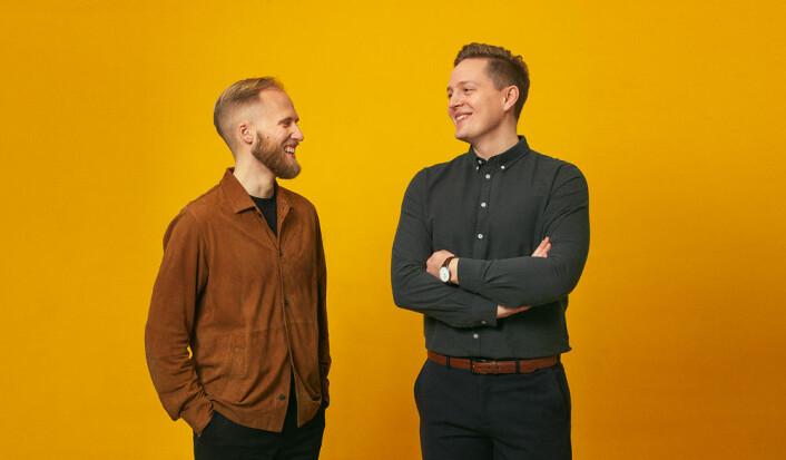 Gründerne Christian Birch og Morten Bo Røndsholt i ShopGun. Foto: Pressefoto