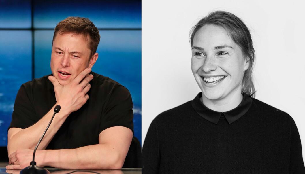 Elon Musk må snart forstå at heller ikke han er et overmenneske, mener Digge Zetterberg Odh. Foto: Scanpix og Pressefoto