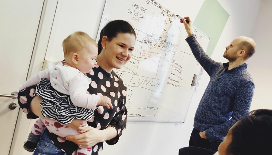 Maja Adriaensen og Knut Wien har flere års erfaring som både gründere og foreldre.