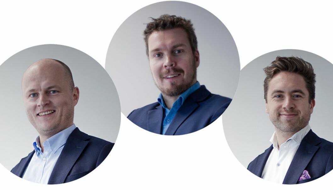Teamet i Dealflow (fra venstre): Fra venstre : Petter Skulstad, Ole B. Larsen, Håkon Leinan, Jens-Petter Tonning og Karol Klepacki. Foto: Presse