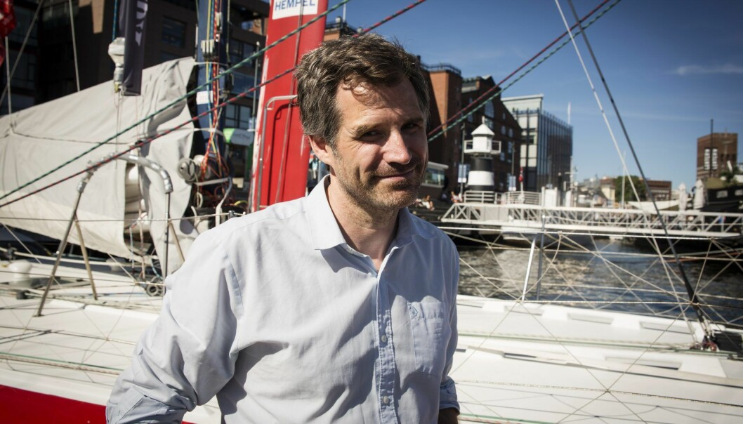 Alexander Woxen i StartupLab om bord på Shifters sommerbåt, som nå er blitt en sensommersbåt, EntrepreneurShipOne. Foto: Per-Ivar Nikolaisen