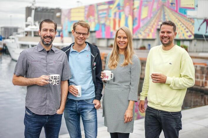 Den nye lederkvartetten i Appear.in: Sean Percival, Arne Gleditsch, Ingrid Ødegaard og Mikael Fløysand. Foto: Presse