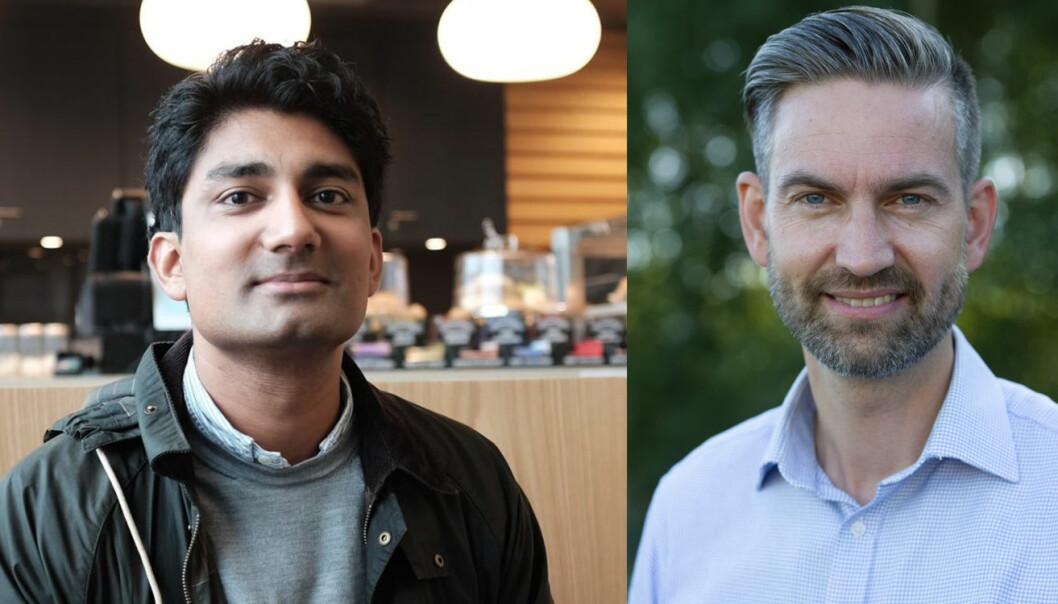 Huddlestock-gründer og tidligere CEO Murshid Ali, og nyansatt CEO Simen Teigre.