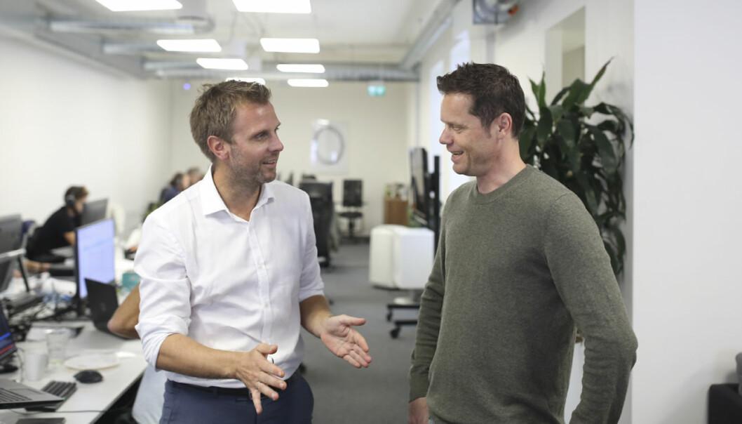 Torgeir Micaelsen (TRY Råd) og Kaare Øystein Trædal (TRY Apt) etterlyser en offentlig, norsk aktør innen markedet for nye teknologier. Foto: TRY