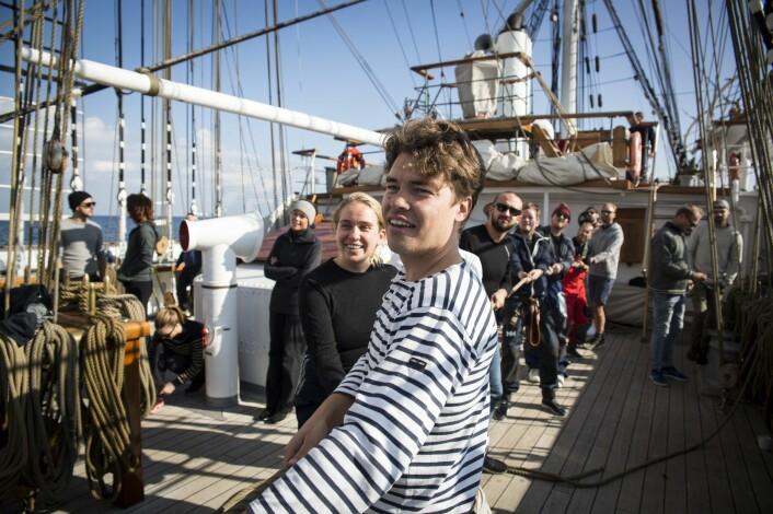 Moviemask-gründer Harald Mannheim var en av de som var ombord på Christian Radich i seilasen mellom Oslo og København, arrangert av EntrepreneruShip og byFounders. Foto: Per-Ivar Nikolaisen