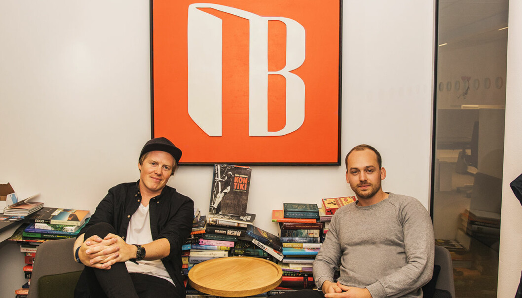 Lasse Brurok (til venstre) og Arne-Morten Willumsen i Bookis. Foto: Benedicte Tandsæther-Andersen