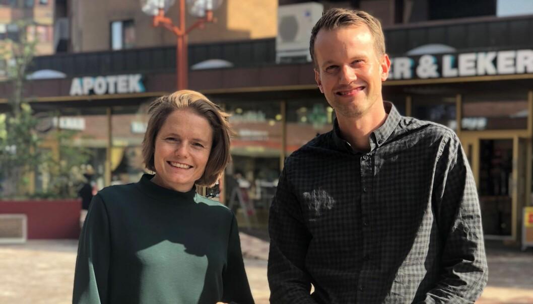 Lene Fredly Rousseau og Mats Staugaard i KickBack. Foto: Privat