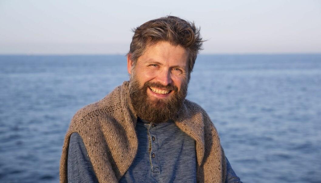 Svein Willassen, tidligere Appear.in, nå Confrere, ombord på Christian Radich i forbindelse med xVoyage. Foto: Per-Ivar Nikolaisen