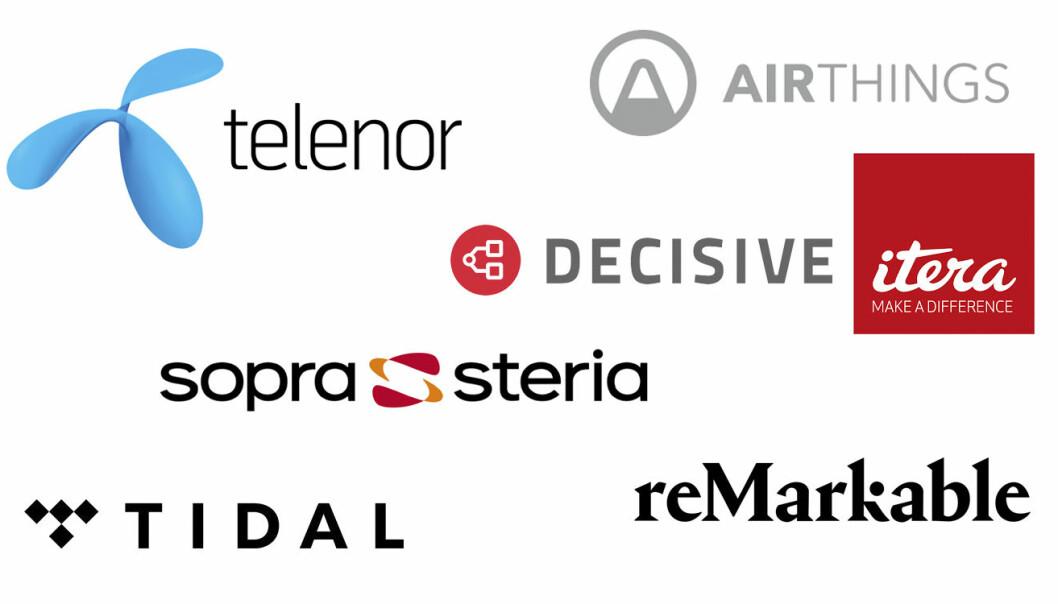 Noen av selskapene på Finansavisens liste over Norges 500 største IT-selskaper.