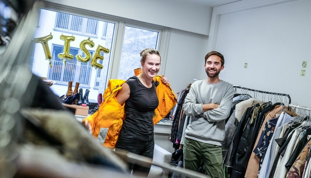 CEO Eirik Frøyland Rime og markedssjef Victoria Terese Hauk i Tise. Foto: Vilde Mebust Erichsen