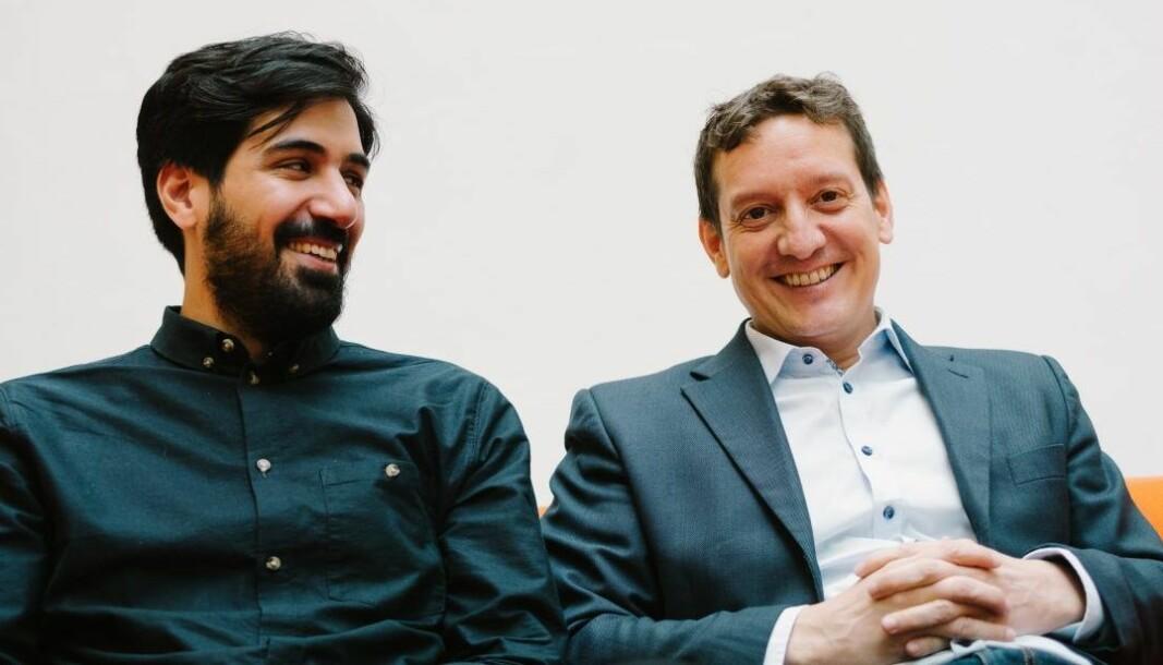 Gründerne Arash Saidi og John Antonio Nilsen i det som først her Convertelligence, nå Kindly.