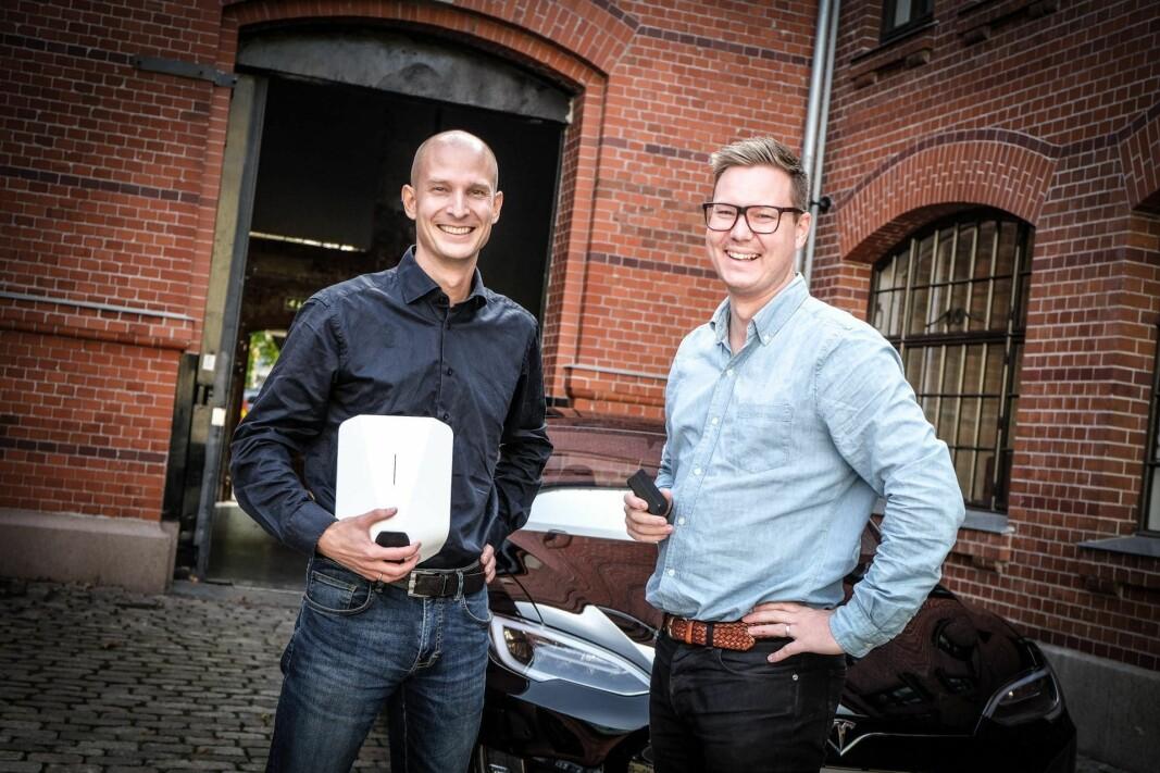 Tibber-gründerne Edgeir Aksnes og Daniel Lindén.