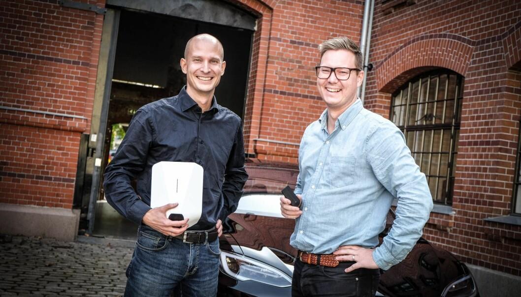 Tibber-gründerne Edgeir Aksnes og Daniel Lindén. Foto: Vilde Mebust Erichsen
