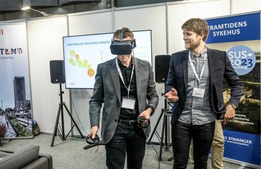 Fra dette VR-studioet lages nye Stavanger Universitetssykehus