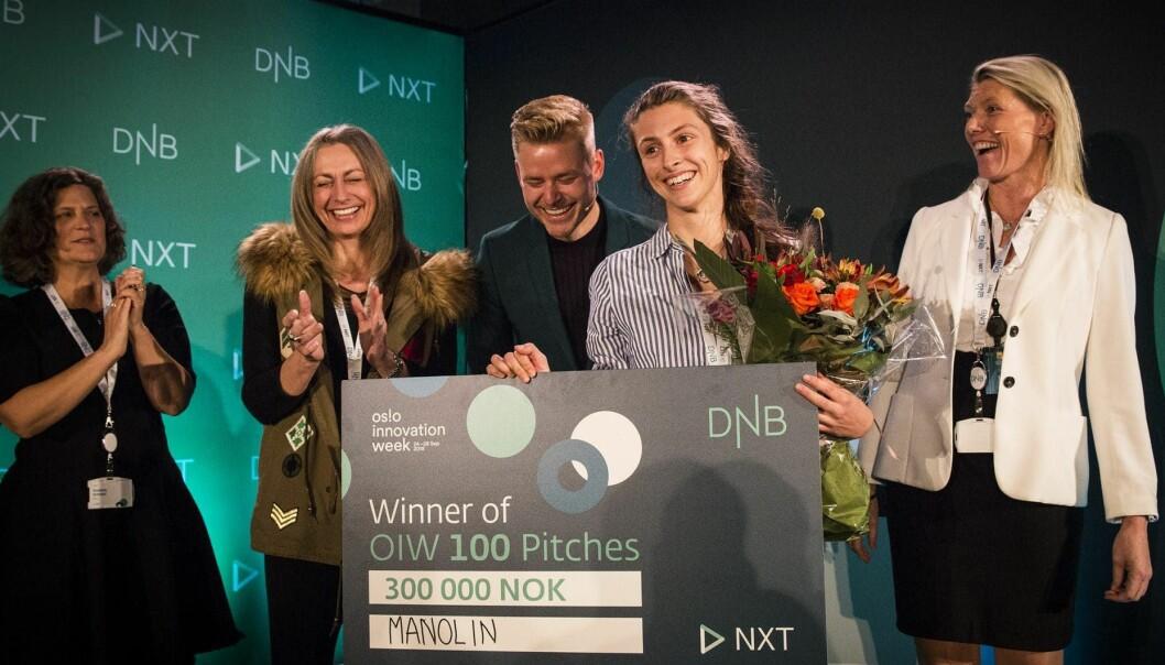 Natalie Brennan i Manolin vant fjorårets 100 Pitches. Foto: Per-Ivar Nikolaisen